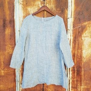 ANTHROPOLOGIE Nuthatch natural linen top shirt